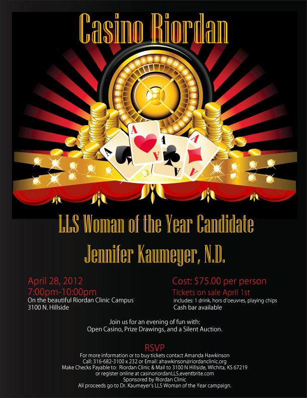 Casino Riordan April 28th 2012 @ 7pm,